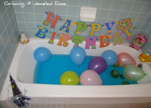 bath15 575x411 Fun Kids Birthday Traditions