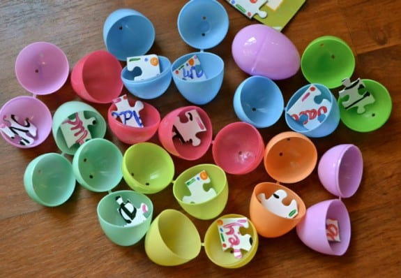Easter Egg Puzzle Idea and 10+ other fun Easter Egg Hunt Ideas! From overthebigmoon.com!