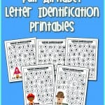 Full Alphabet Letter Identification Printables for kids! Kids love these!!