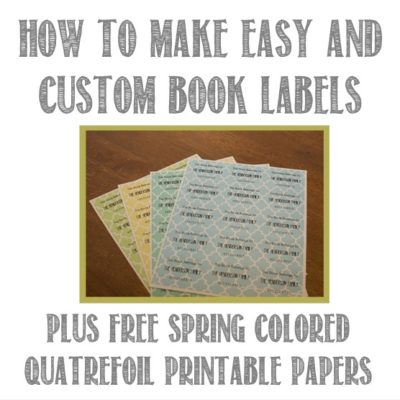 How to Easily Make Custom Book Labels