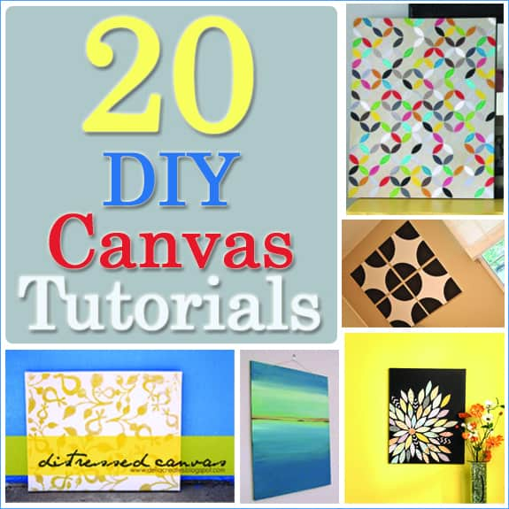 20 diy canvas art tutorials Diy canvas painting designs