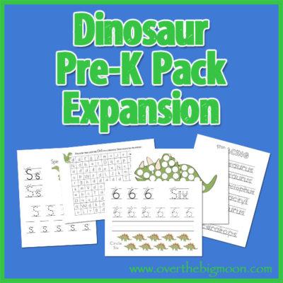 Dinosaur Pre-K Pack Expansion