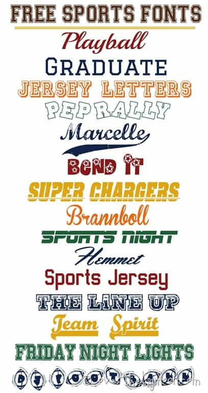 Free Fonts Jersey Letters