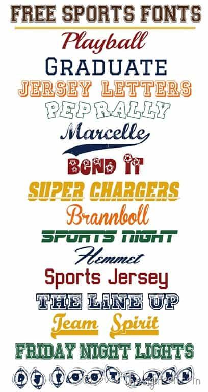 Sports Fonts 97