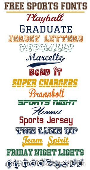 Fabulously SPORTS fonts