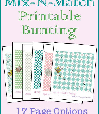 Spring Mix-N-Match Printable Bunting