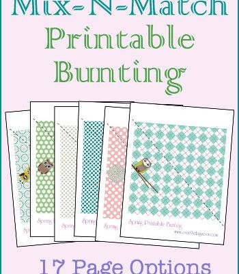 Spring Mix-N-Match Printable Bunting