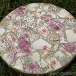 Create your Own Garden Stones from Broken Dish or China from www.overthebigmoon.com!