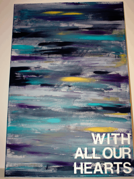 with all our hearts1 433x575 20 DIY Canvas Art Tutorials
