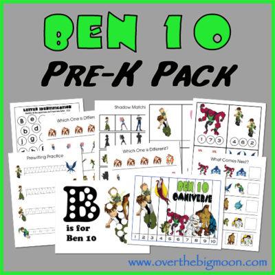 Ben 10 Pre-K Pack