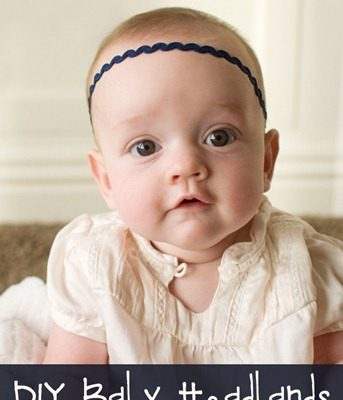 DIY Baby Headbands for Super Cheap