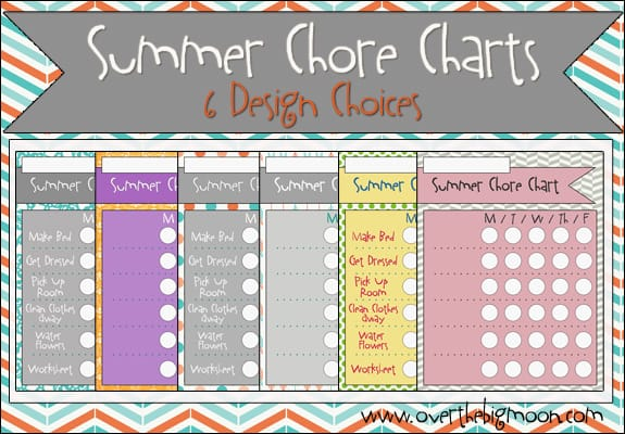 button2 Summer Chore Charts