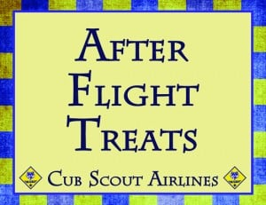 AfterFlightTreatsPost 300x231 Soarin Themed Cub Scout Pack Night