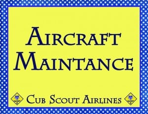 AircraftMaintpost 300x231 Soarin Themed Cub Scout Pack Night