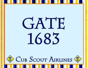 GatePost 300x231 Soarin Themed Cub Scout Pack Night