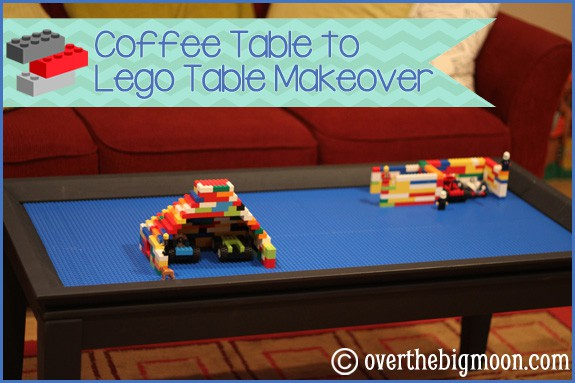 Coffee Table to Lego Table Makeover - Over The Big Moon