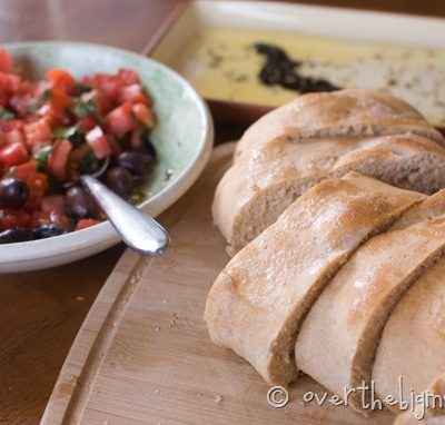 Bruschetta with Bread Dipping Oil