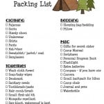Girls Camp Printable Packing List And Leaders Must Haves For