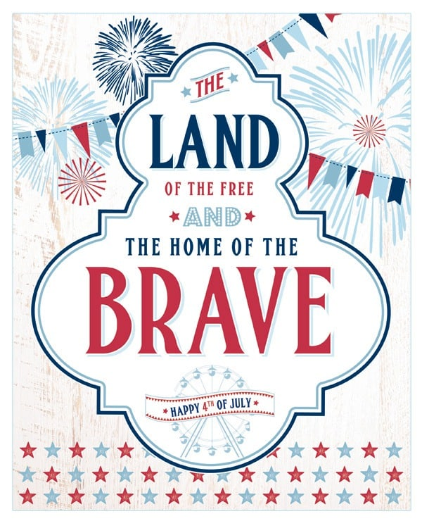 4th Of July Decor Plus A Round Up Free Printables
