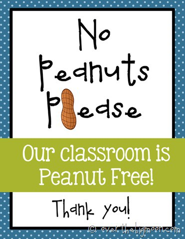 No peanut please blue thumb Navigating the Public School System with a Peanut Allergy