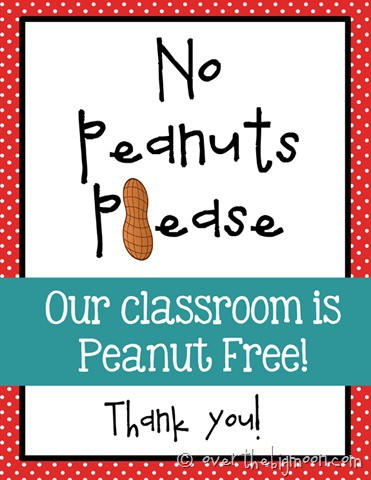 No peanut please red  thumb Navigating the Public School System with a Peanut Allergy
