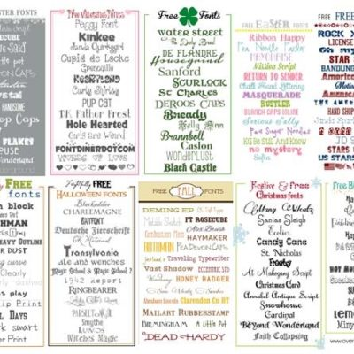 Font Cheat Sheet