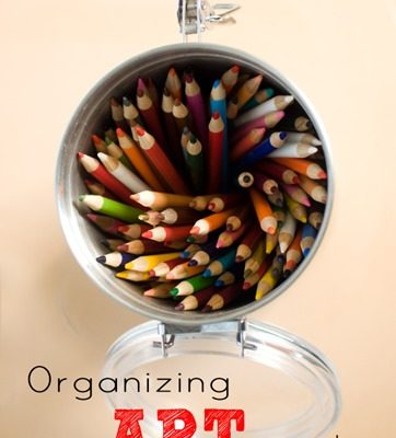 Organizing Kids Art Supplies