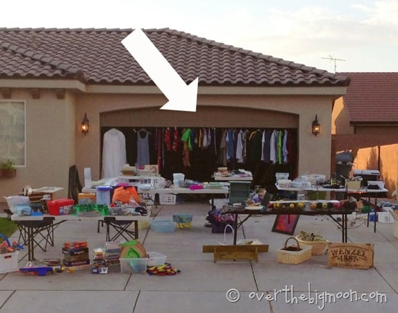Garage Sale Ideas Hanging Clothes