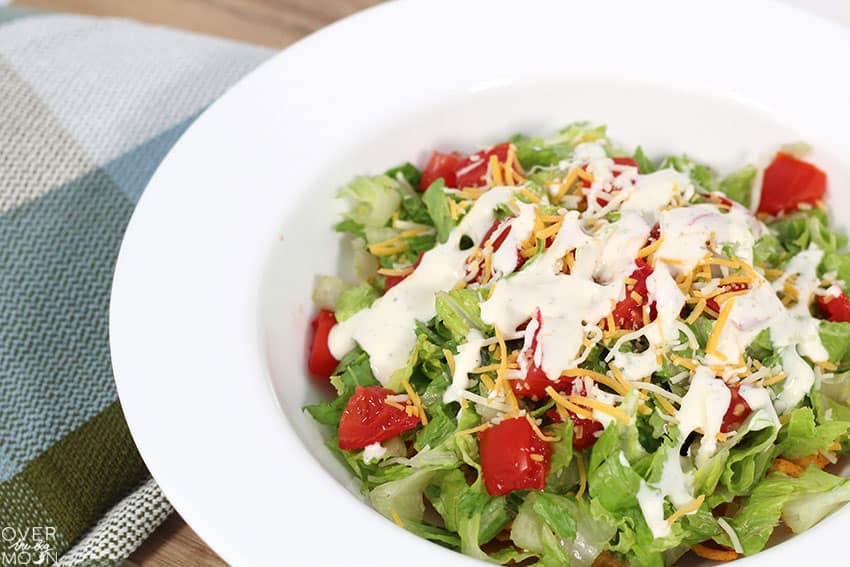 Glorified Taco Salad with Ranch dressing!