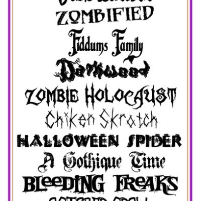 Frightfully Free Halloween Fonts II