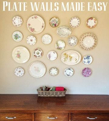 Heirloom Plate Wall Made Easy
