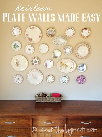 plate wall thumb Heirloom Plate Wall Made Easy