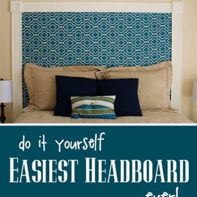 DIY Easiest Headboard