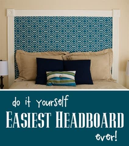 easiest headboard