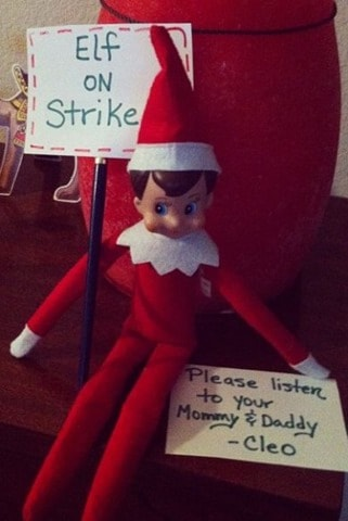 strike thumb 12 Last Minute and Free Elf on the Shelf Ideas