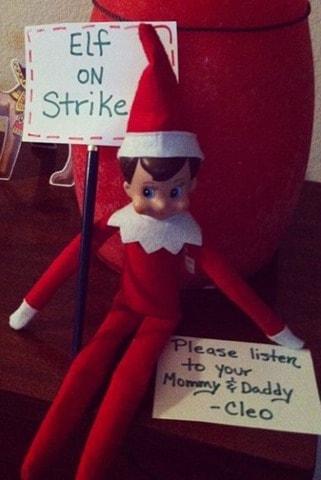 strike thumb 12 Last Minute and Free Elf on the Shelf Ideas