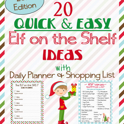 20 Elf on the Shelf Ideas with Shopping List and Daily Planner