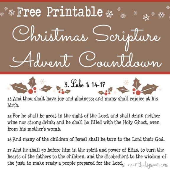 Christmas Scripture Advent Free Printable