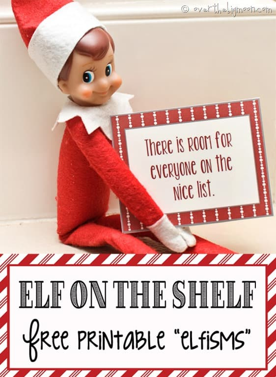 Over The Big Moon Elf on the Shelf Printable Elfisms