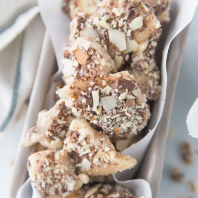 Homemade Almond Roca and Coconut Toffee Recipes that are perfect for the Holidays! From overthebigmoon.com!