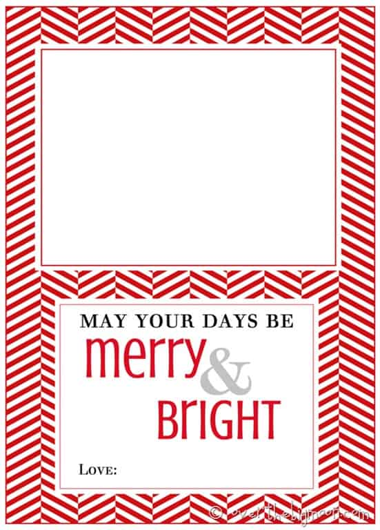 Bright image inside free printable gift card holder templates
