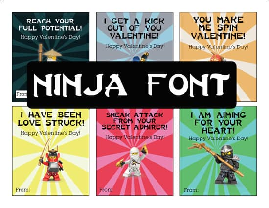 Ninjago Valentine's Free Printable