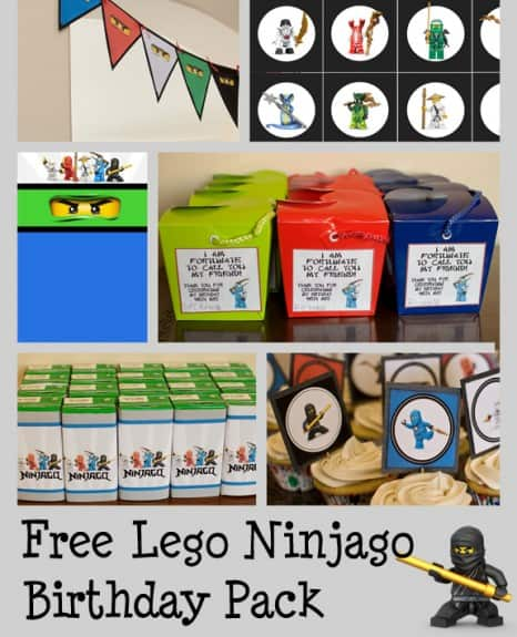 Ninjago Birthday Pack1 466x575 Ninjago Birthday Party with Free Printables