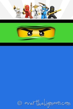Ninjago birthday party invite