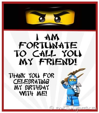 Ninjago birthday treat thumb Ninjago Birthday Party with Free Printables