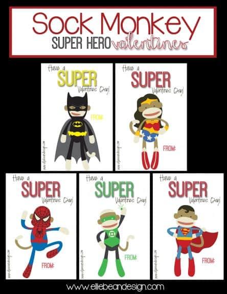 SockMonkeySuperHero 444x575 Sock Monkey Super Hero Valentines