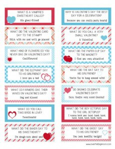 Valenitne Lunch box Joke cards 444x575 231x300 Kid Friendly Valentines Day Menu Ideas!