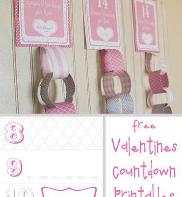 Valentines Countdown Printable