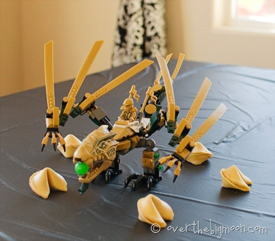 beckhams party5 thumb1 Ninjago Birthday Party with Free Printables