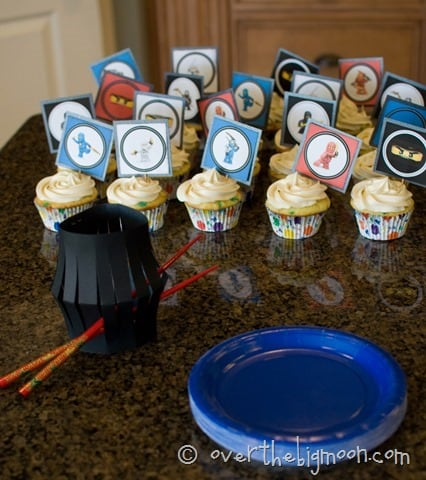 beckhams party8 thumb Ninjago Birthday Party with Free Printables